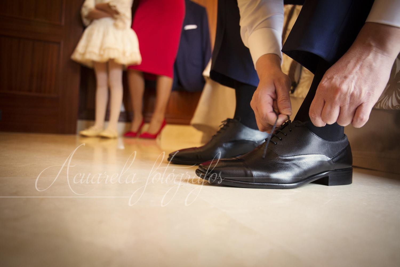 Fotos de boda. Casa novio
